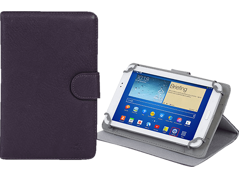 RIVACASE 3012 Tablethülle, Bookcover, 7 Zoll, Violet