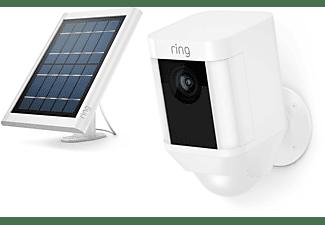 RING Solar Panel - weiß für Spotlight Cam (Akku), verstellbare Halterung, 4m Verbindungskabel