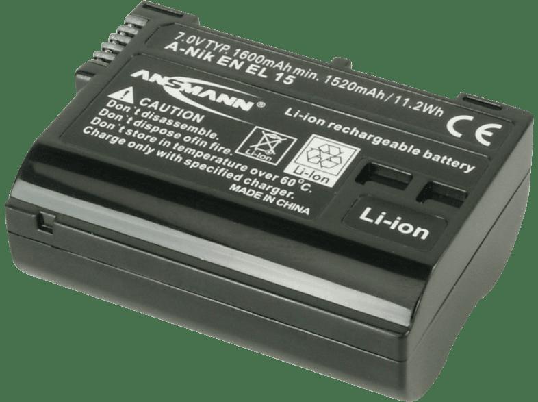 ANSMANN 1400-0043 A-NIK EN EL 15 Akku  , Li-Ion, 7 Volt, 1600 mAh