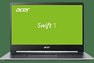ACER Swift 1 (SF114-32-P8GG), Notebook mit 14 Zoll Display, Pentium® Silver Prozessor, 4 GB RAM, 256 GB SSD, Intel® UHD-Grafik 605, Sparkly Silver