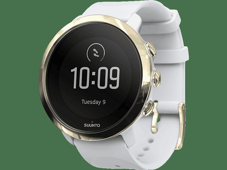SUUNTO  Fitness 3 Smartwatch glasverstärktes Polyamid, Silikon, 43 mm, Weiß