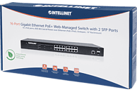 Gigabit Ethernet INTELLINET 561341 16PORT GIGABIT ETHERNET POE+WEBMAN. SWITCH