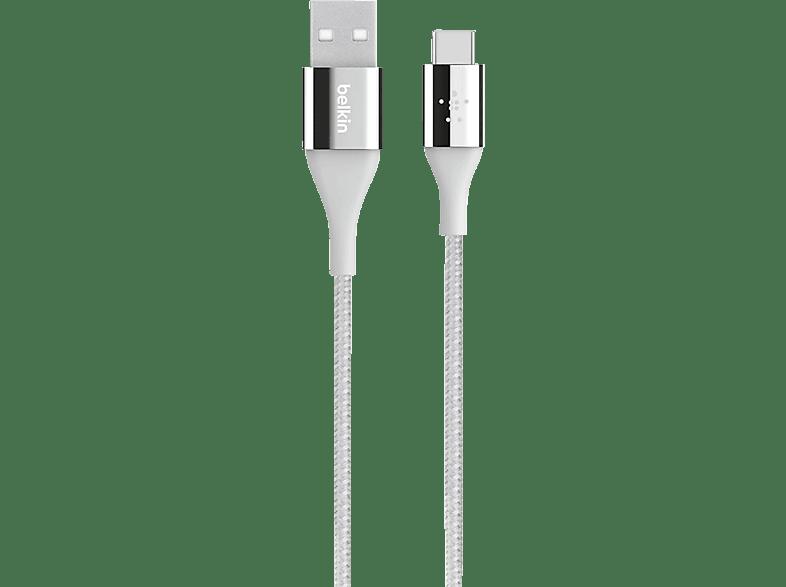 BELKIN Duratek DuPont Kevlar, USB-Kabel, 1.2 m, Silber