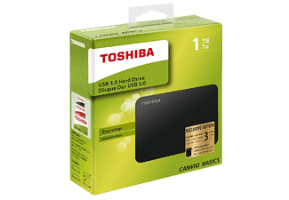 Disco duro 1 TB - Toshiba Canvio Basics, 2.5 pulgadas, USB 3.0, Negro
