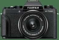 FUJIFILM X-T100 Systemkamera 24.2 Megapixel mit Objektiv 15-45 mm , 7.6 cm Display   Touchscreen, WLAN