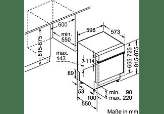 BOSCH SMI67MS01E 2 Geschirrspüler (teilintegrierbar, 598 mm breit
