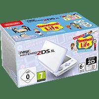 NINTENDO New Nintendo 2DS XL Weiß + Lavendel inkl. TomodachiLife