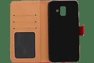 V-DESIGN BV 423 , Bookcover, Samsung, Galaxy A6 (2018), Kunstleder, Rot