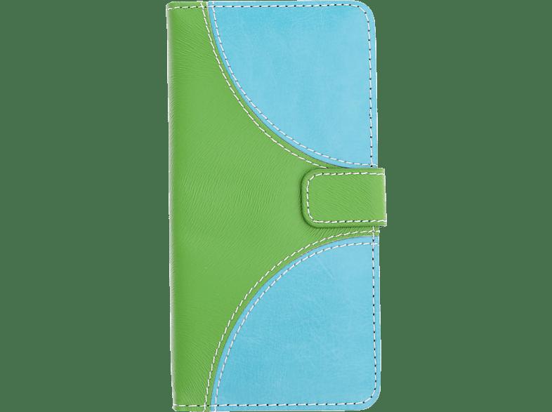 V-DESIGN NFC 150 , Bookcover, Huawei, P20 Lite, Kunstleder, Grün/Blau