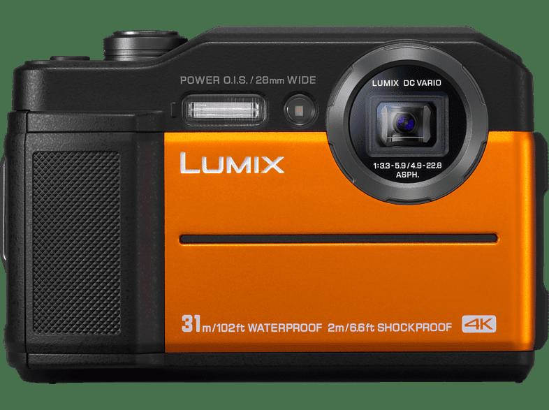PANASONIC DC-FT 7 EG-D Digitalkamera  Orange, 20 Megapixel, 4.6x opt. Zoom, TFT-LCD