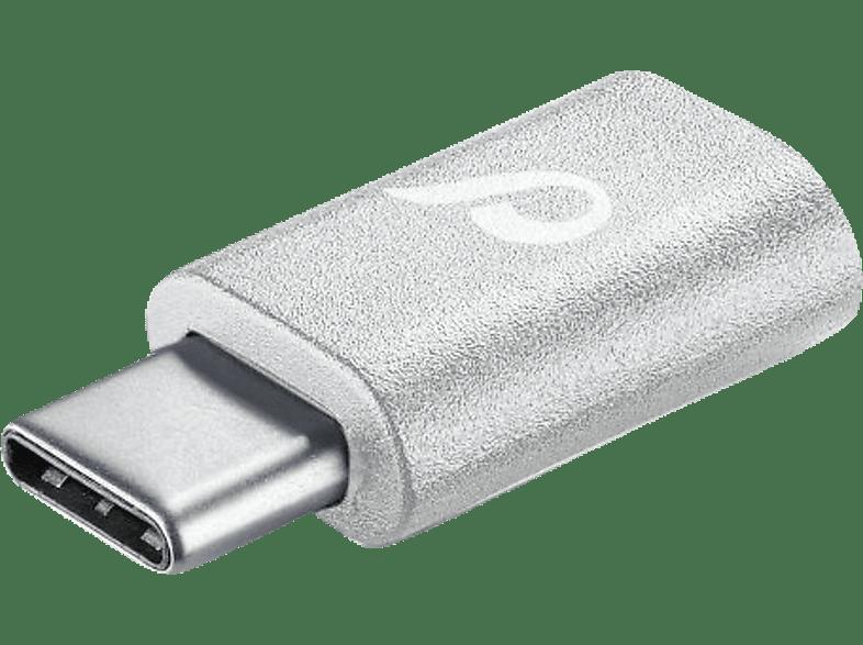 CELLULAR LINE Compact Micro-USB auf USB-Type-C Adapter Weiß