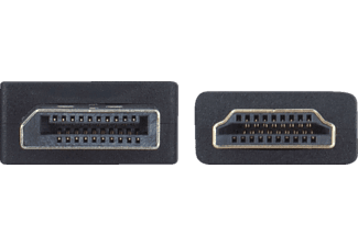 HP 2UX08AA  Displayport HDMI Kabel, Schwarz