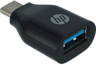 HP 2UX20AA Adapter - USB-C™ auf USB A,, USB Adapter, Schwarz