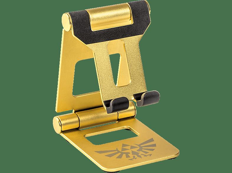 POWER A Premium Metal Stand - Zelda Edition , Nintendo Switch Halterung, Goldfarben