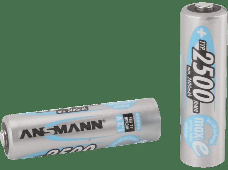 ANSMANN maxE AA2500 4ER Batterie  , Nickel-Metallhydrid, 1.2 Volt, 2500 mAh, 2400 mAh
