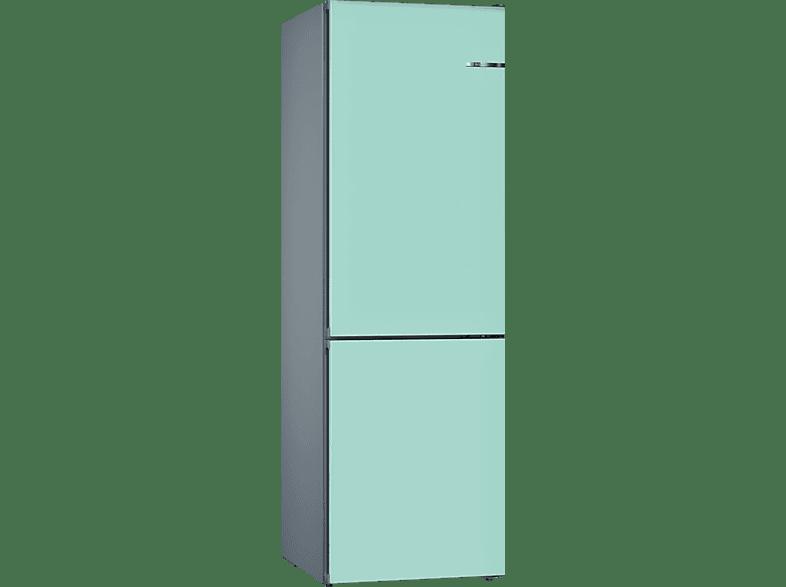 BOSCH KVN39IT4A  Kühl- / Gefrierkombination (A+++, 182 kWh/Jahr, 2030 mm hoch, Pastellblau)