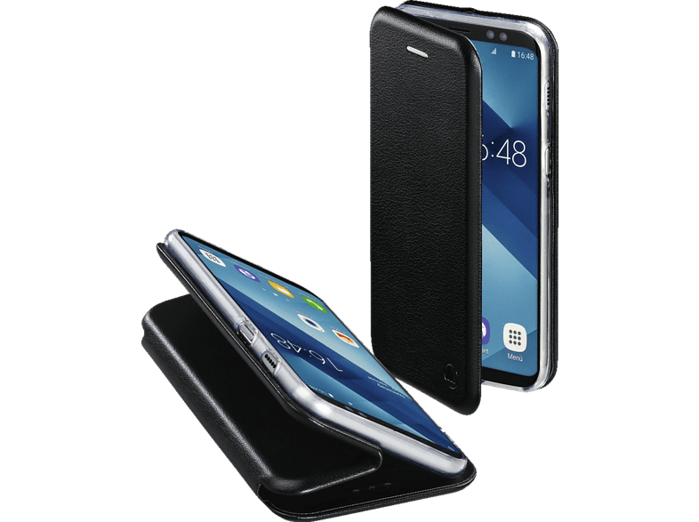 HAMA Curve , Bookcover, Samsung, Galaxy A6 (2018), Polyurethan/Thermoplastisches Polyurethan, Schwarz