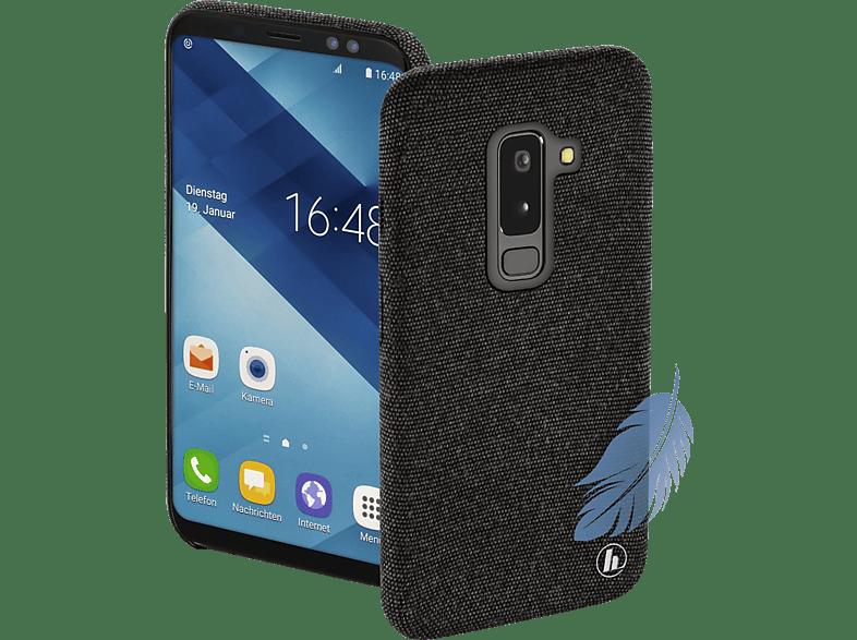 HAMA Cozy , Backcover, Samsung, Galaxy A6+ (2018), Silikon / Textilbezug, Schwarz