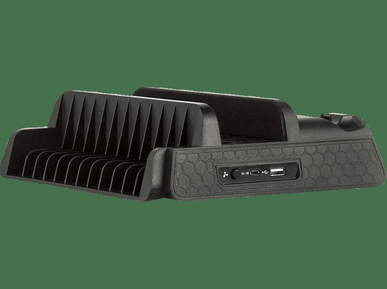 KONIX Cooling & Charging Stand (Pro+Slim) Starship , Zubehör PS4, Schwarz