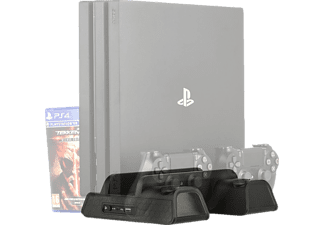 KONIX Cooling & Charging Stand (Pro+Slim) Starship, Zubehör PS4, Schwarz