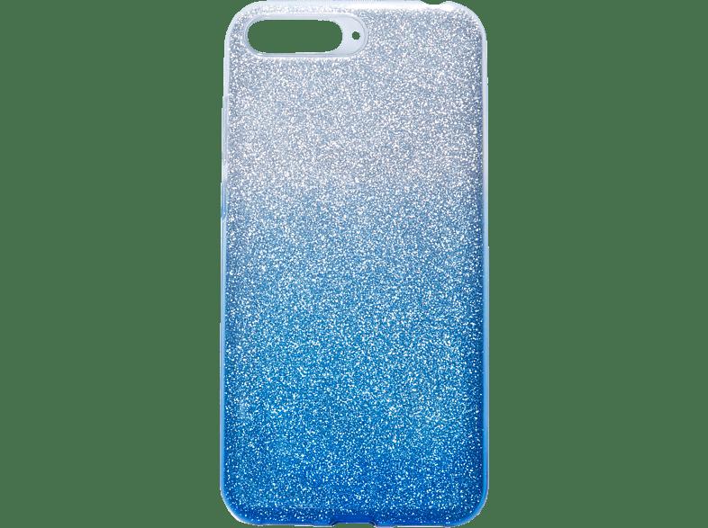 V-DESIGN VSP 043 , Backcover, Huawei, Y6 2018, Plastik + Thermoplastisches Polyurethan, Blau