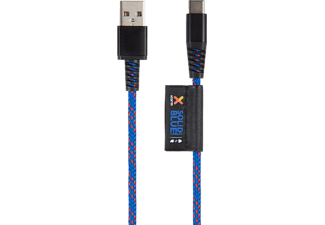 XTORM Solid, USB-Kabel, 1 m, Blau/Rot