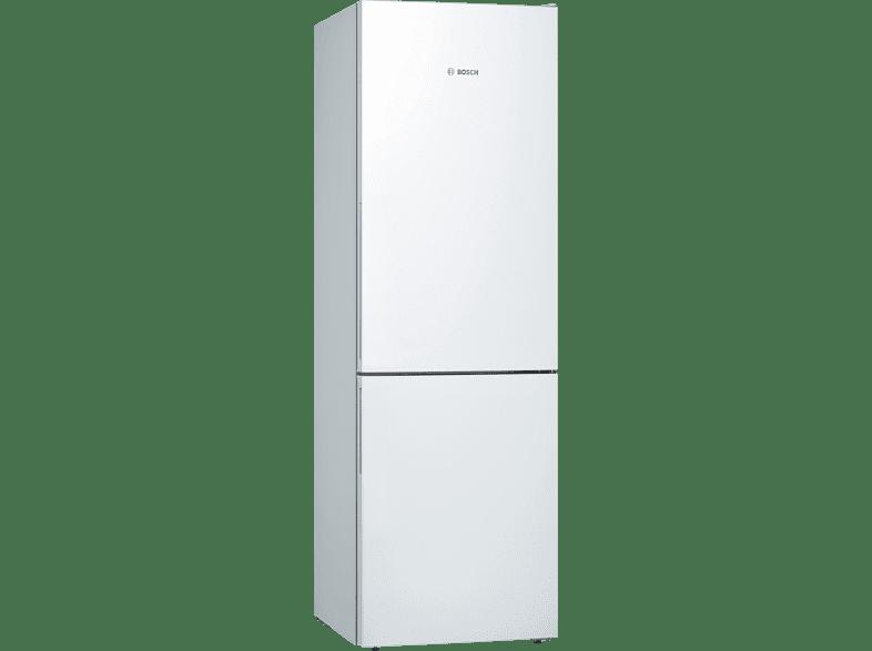 BOSCH KGE36VW4A Serie 4 Kühlgefrierkombination (A+++, 161 kWh/Jahr, 1860 mm hoch, weiß)