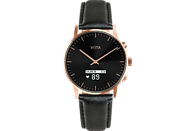VIITA WATCH  Hybrid HRV Classic Connected Watch Edelstahl, Echtleder, -, roségold, schwarz