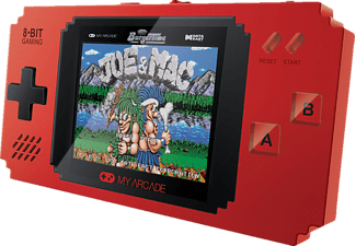 MYARCADE Pixel Player - Handheld Konsole (300 Spiele), Spielekonsole, Schwarz/Rot