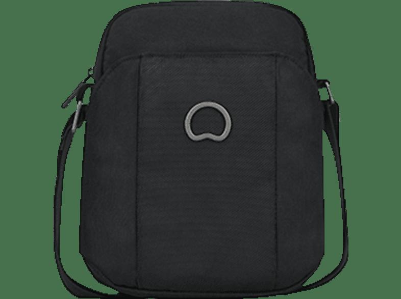 DELSEY Picpus Mini Reporter Notebooktasche, Umhängetasche, 8 Zoll, Schwarz