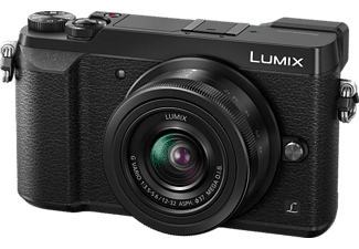 PANASONIC Lumix DMC-GX80 Systemkamera 16 Megapixel mit Objektiv 12-32 mm f/3.5-5.6, f/4.0-5.6, 7,5 cm Display Touchscreen, WLAN