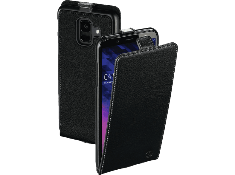 HAMA Smart Case , Flip Cover, Samsung, Galaxy A6 (2018), Leder (Obermaterial), Schwarz