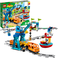 LEGO 10875 Güterzug Bausatz, Mehrfarbig