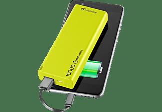 Power bank ultrarrápido Cellular Line Freepower Slim, 10000mAh, Verde