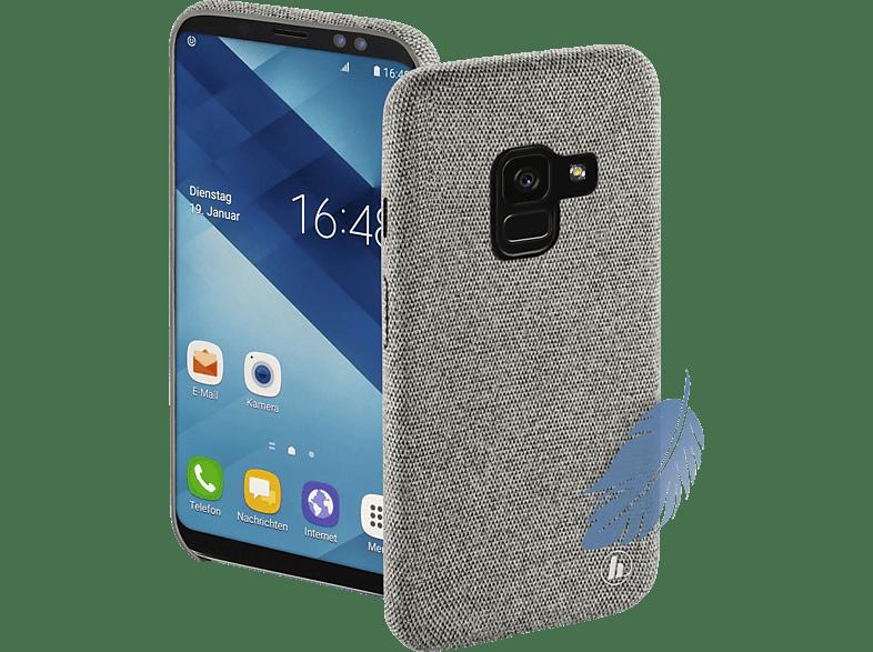 HAMA Cozy , Backcover, Samsung, Galaxy A6 (2018), Silikon/Textilbezug, Hellgrau