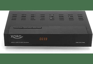 XORO HRM 7670 TWIN Full HD HEVC DVB-T/T2/C Kombi Receiver DVB-T2 HD Receiver (Twin Tuner, DVB-T2 HD, DVB-C, Schwarz)