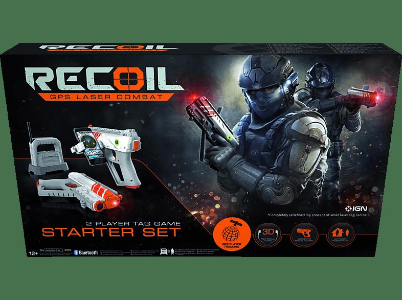 RECOIL Starter Set GPS Laser Combat Laserpistole, Grau/Orange