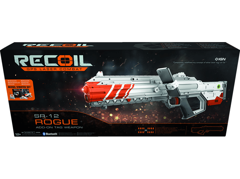 RECOIL Rogue ADD-ON TAG Weapon Laserpistole, Grau/Orange