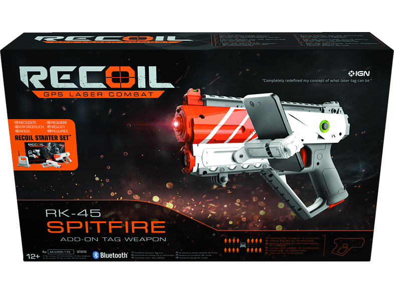 RECOIL Spitfire ADD-ON TAG Weapon Laserpistole, Grau/Orange