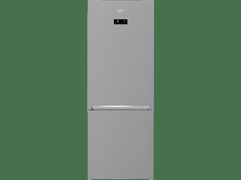 BEKO RCNE 560 E 40 ZXP  Kühlgefrierkombination (A+++, 228 kWh/Jahr, 1920 mm hoch, Edelstahllook)
