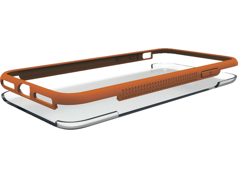 HAMA Frame , Backcover, Samsung, Galaxy A6+ (2018), Polycarbonat / Thermoplastisches Polyurethan, Orange