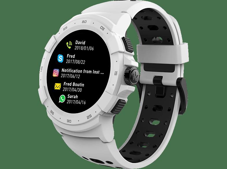 MYKRONOZ  ZeSport 2 Smartwatch Metall, Kunststoff, 212 mm, Weiß/Schwarz