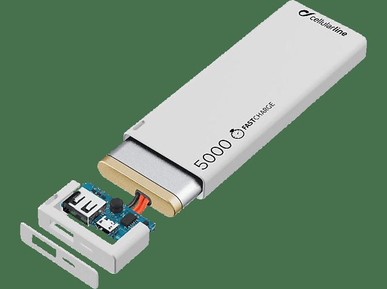 CELLULAR LINE FreePower Slim Powerbank 5000 mAh Weiß