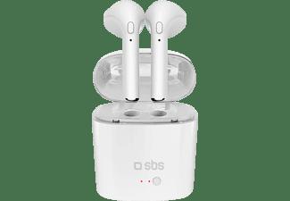 SBS-MOBILE TEEARSETBT750TWSW, In-ear Kopfhörer Bluetooth Weiß