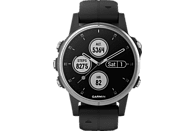 GARMIN Fenix 5S Plus Smartwatch Faserverstärktes Polymer Silikon, One Size/20 mm, Silber/Schwarz