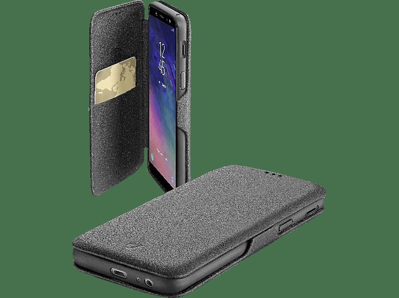 CELLULAR LINE Bookclutch , Bookcover, Samsung, Galaxy A6 (2018), Kunstleder, Schwarz