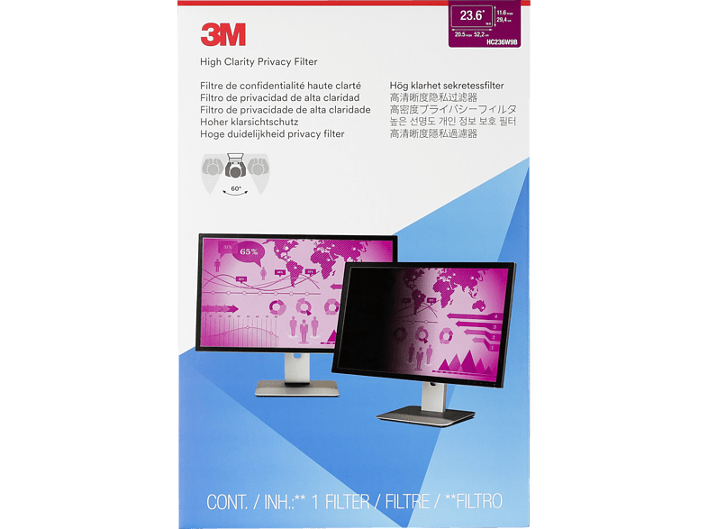 3M HC236W9B, Blickschutzfolie