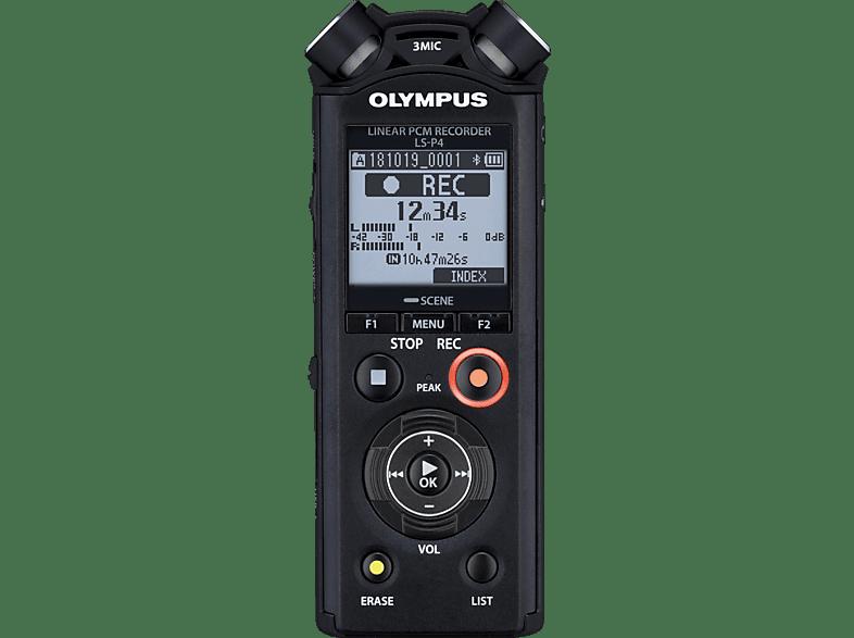 OLYMPUS LS-P4 Voice- und Music-Recorder, schwarz
