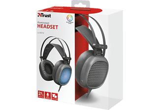 TRUST Trust Lumen Komfortables, beleuchtetes PC-Headset, Over-ear Headset Schwarz