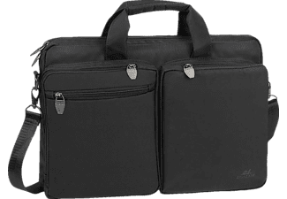 RIVACASE 8530 Notebooktasche Aktentasche für Universal Polyester, Schwarz